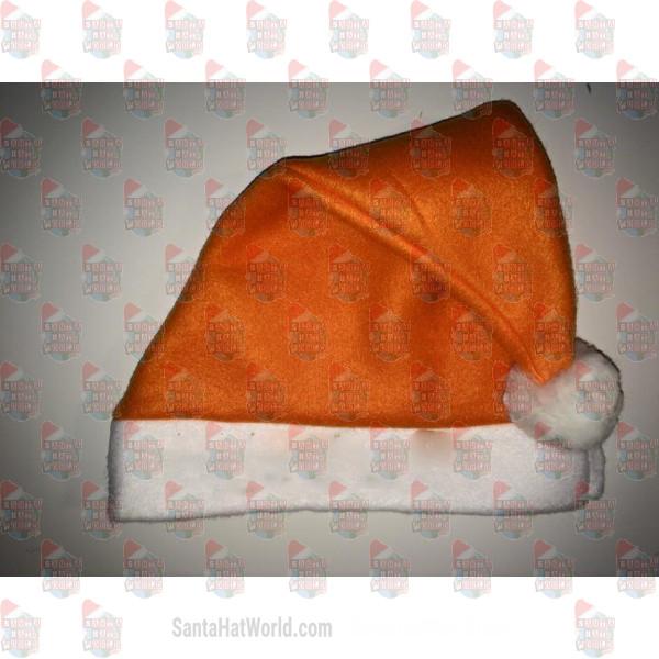 Double Fleece Carrot Orange Santa Hat