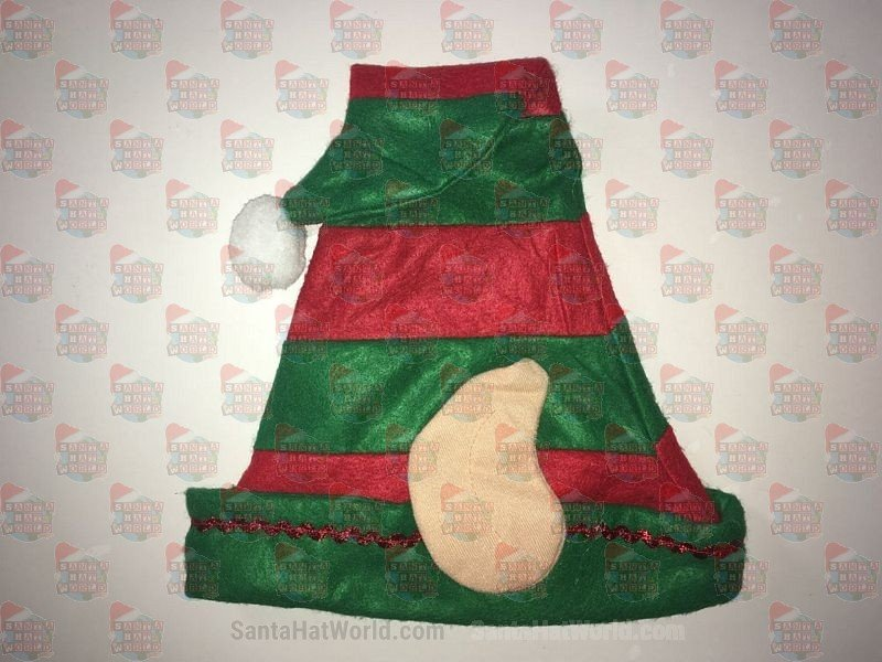 Elf Felt Hat With Ears Red & Green