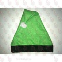 Green and Black Santa Hat
