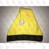Yellow and Black Santa Hat