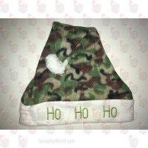 HOHOHO Green Camo Santa Hat
