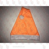Fleece Orange Santa Hat
