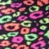 Middle Neon Leopard Fleece - +$5.00